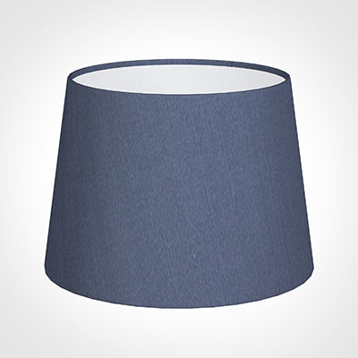 20cm Medium French Drum Shade in Blue Faux Silk