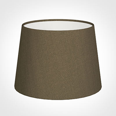 20cm Medium French Drum Shade in Bronze Faux Silk