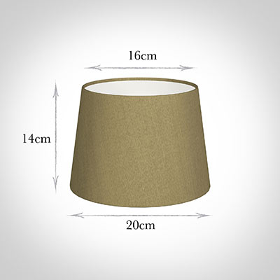 20cm Medium French Drum Shade in Dull Gold Faux Silk