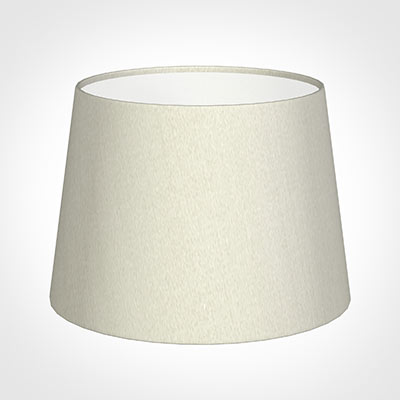 20cm Medium French Drum Shade in Pearl Faux Silk
