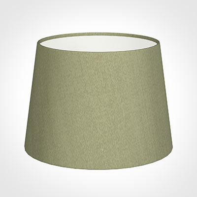 20cm Medium French Drum Shade in Pale Green Faux Silk