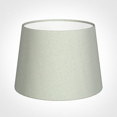 20cm Medium French Drum Shade in SoftGrey Faux Silk