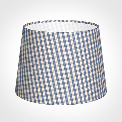 20cm Medium French Drum Shade in Blue Longford Gingham