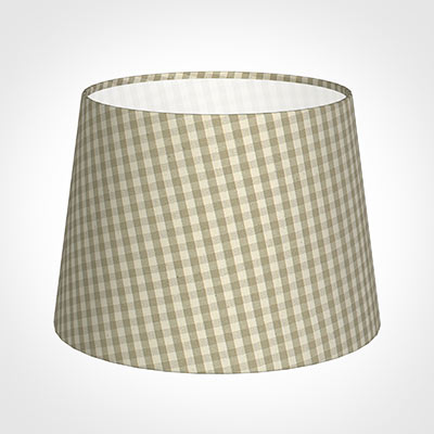 20cm Medium French Drum Shade in Natural Longford Gingham