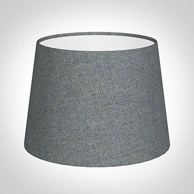 20cm Medium French Drum in Blue Herringbone Lovat Tweed