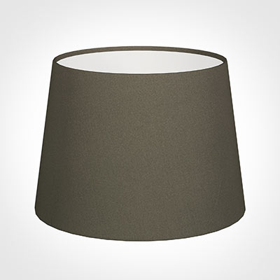 20cm Medium French Drum Shade in Bark Satin