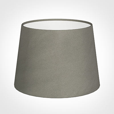 20cm Medium French Drum Shade in Pewter Satin