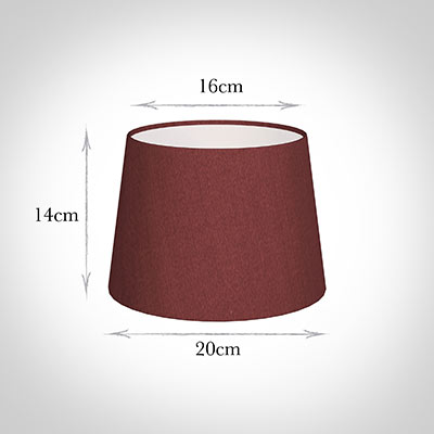 20cm Medium French Drum Shade Antique Red Silk