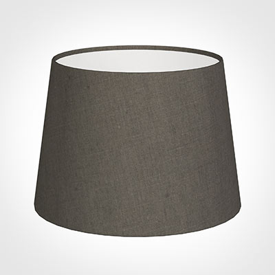 20cm Medium French Drum Shade in Mouse Waterford Linen