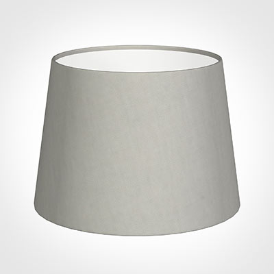 20cm Medium French Drum Shade in Soft Grey Waterford Linen