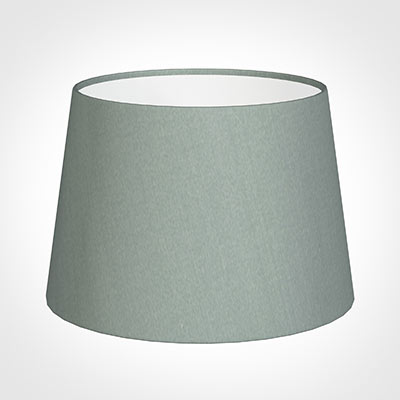 25cm Medium French Drum Shade in Aquamarine Faux Silk