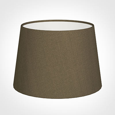 25cm Medium French Drum Shade in Bronze Faux Silk
