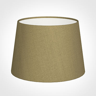 25cm Medium French Drum Shade in Dull Gold Faux Silk