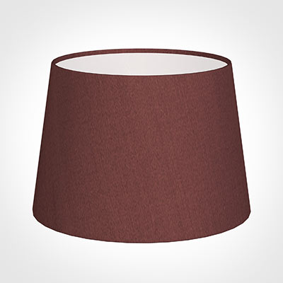25cm Medium French Drum Shade in Old Red Faux Silk