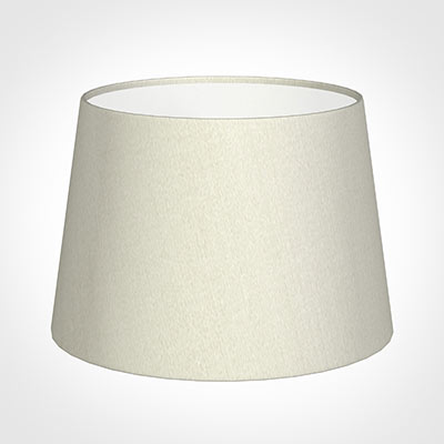 25cm Medium French Drum Shade in Pearl Faux Silk