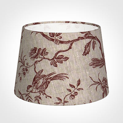 25cm Medium French Drum Shade in Red Isabelle