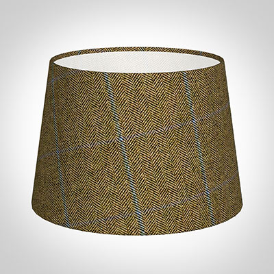25cm Medium French Drum in Angus Check Lovat Wool