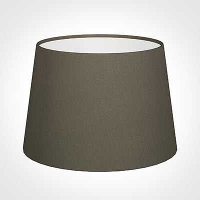 25cm Medium French Drum Shade in Bark Satin