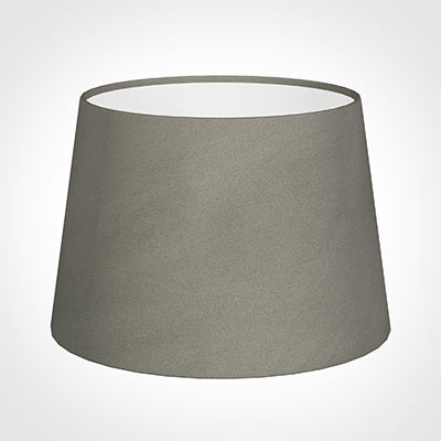 25cm Medium French Drum Shade in Pewter Satin
