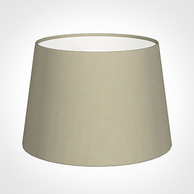 25cm Medium French Drum Shade in Pale Smoke Satin