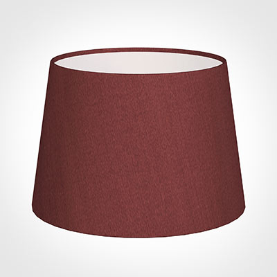 25cm Medium French Drum Shade in Antique Red Silk