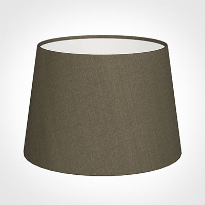 25cm Medium French Drum Shade in Bronze BrownSilk