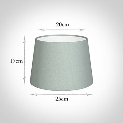 25cm Medium French Drum Shade in French Grey Silk