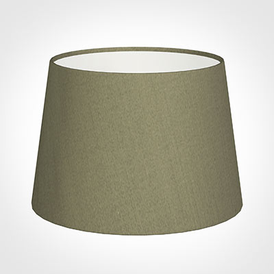 25cm Medium French Drum Shade in Watered Green Silk