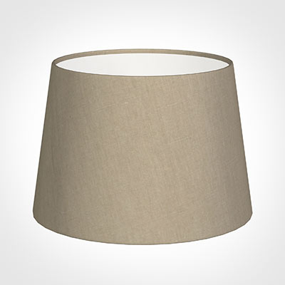 25cm Medium French Drum Shade in Limestone Waterford Linen