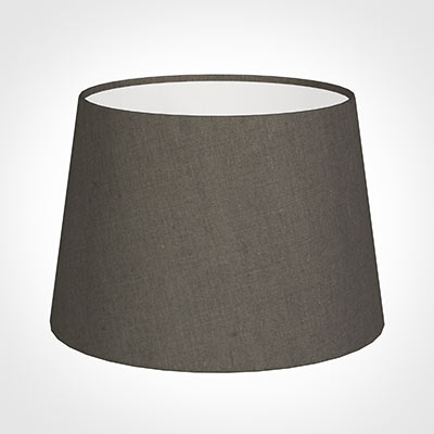 25cm Medium French Drum Shade in Mouse Waterford Linen