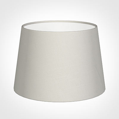 25cm Medium French Drum Shade in Off White Waterford Linen