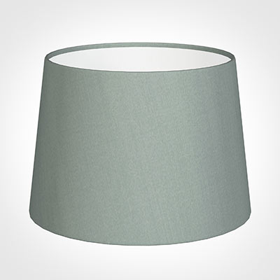 30cm Medium French Drum Shade in Aquamarine Faux Silk