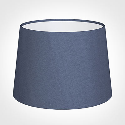 30cm Medium French Drum Shade in Blue Faux Silk