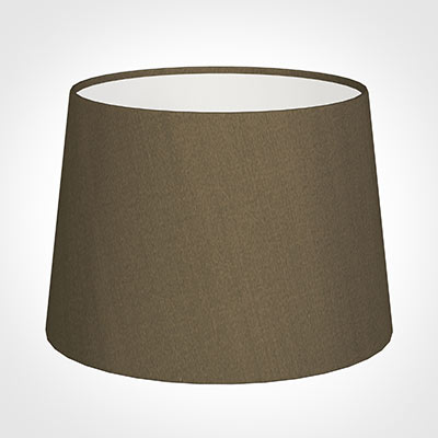 30cm Medium French Drum Shade in Bronze Faux Silk