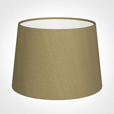 30cm Medium French Drum Shade in Dull Gold Faux Silk