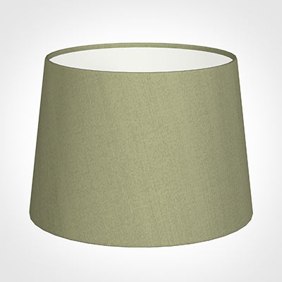 30cm Medium French Drum Shade in Pale Green Faux Silk