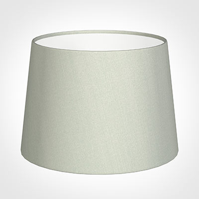 30cm Medium French Drum Shade in Soft Grey Faux Silk