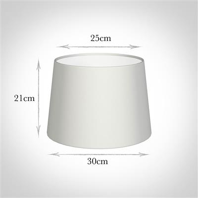30cm Medium French Drum Shade in White Killowen Linen