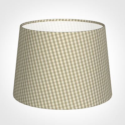 30cm Medium French Drum Shade in Natural Longford Gingham