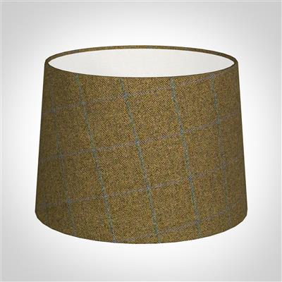 30cm Medium French Drum in Angus Check Lovat Wool