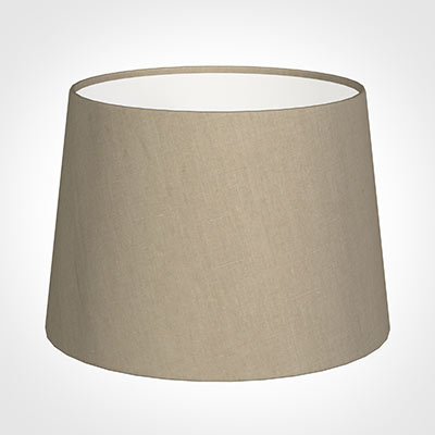 30cm Medium French Drum Shade in Limestone Waterford Linen