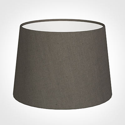 30cm Medium French Drum Shade in Mouse Waterford Linen
