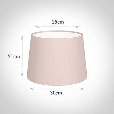 30cm Medium French Drum Shade in Vintage Pink