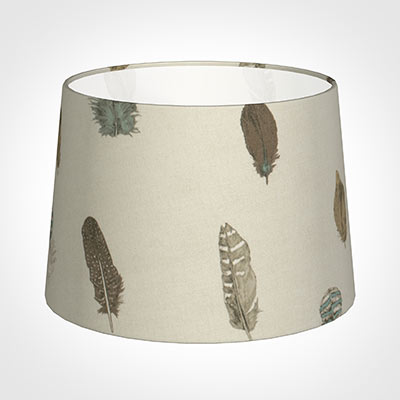 35cm Medium French Drum Shade in StoneFeatherdown