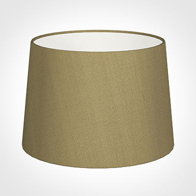 35cm Medium French Drum Shade in Dull Gold Faux Silk