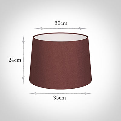 35cm Medium French Drum Shade in Old Red Faux Silk