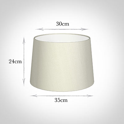 35cm Medium French Drum Shade in Pearl Faux Silk