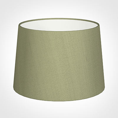 35cm Medium French Drum Shade in Pale Green Faux Silk