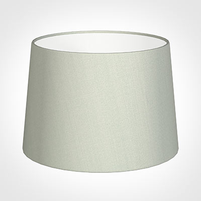 35cm Medium French Drum Shade in Soft Grey Faux Silk