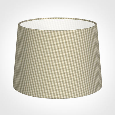 35cm Medium French Drum Shade in Natural Longford Gingham